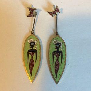 Georganne Deen 80s cloisonné earrings Iseal Beauty